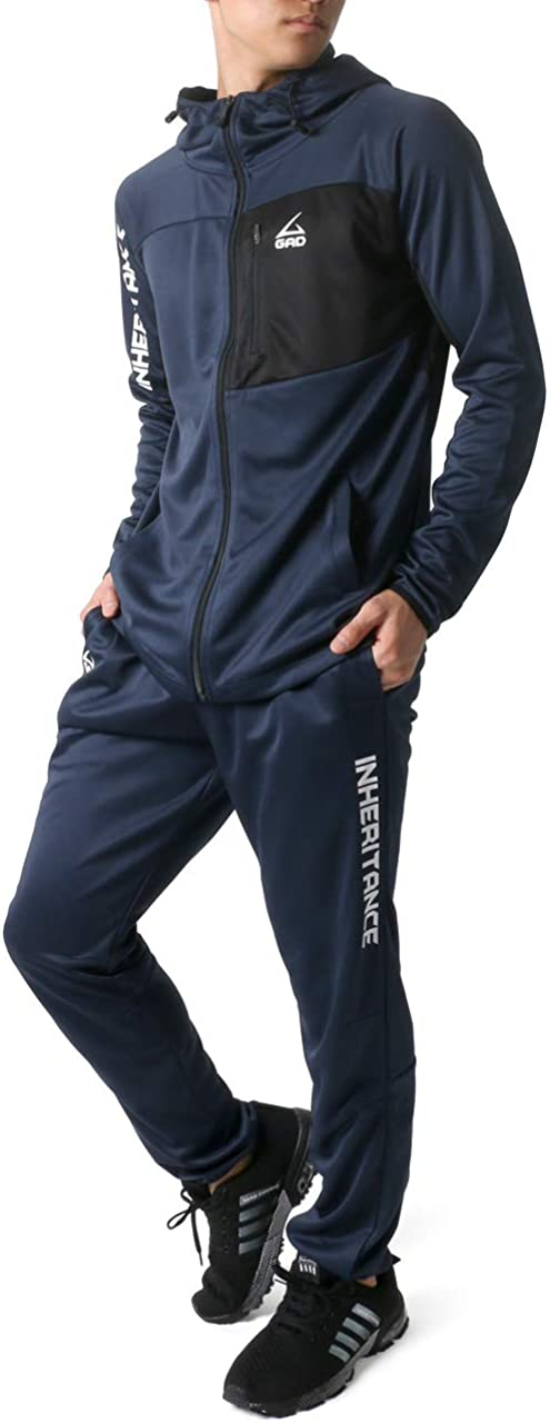 ONTBYB Mens Outfits Jackets Athletic 2-Piece Sets Workout Jogger Running Tracksuits