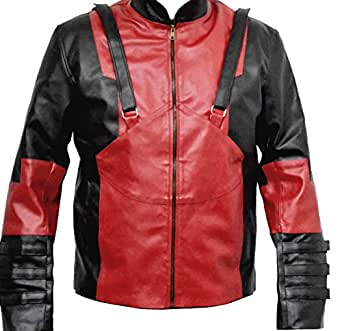 Classyak Deadpool Corps Game Genuine Leather Jacket Ver 3, Xs-5xl (XS)