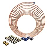 25 ft 1/4 in Copper Nickel Brake Line Complete Repair or Replacement Tubing Kit (Universal Size)