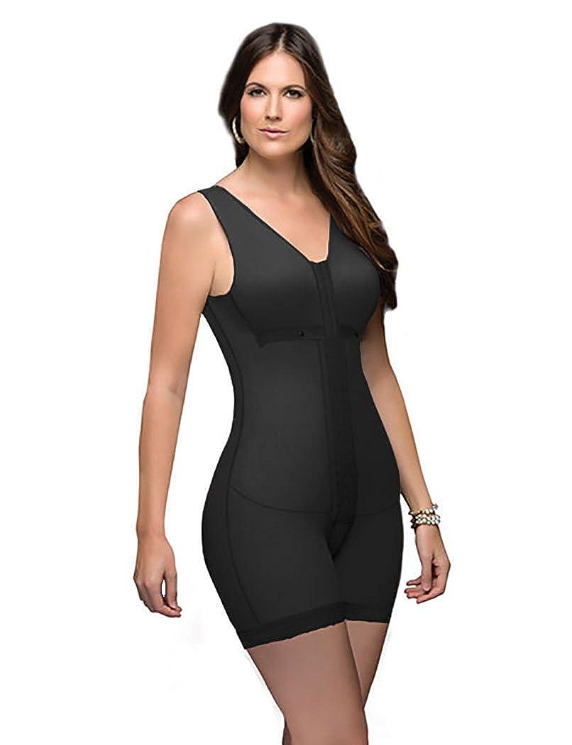 Black DPRADA Fajas 11215 Full Body Shaper Post Surgery Abdomen Compression Garment with Bra