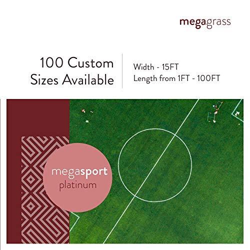 MEGAGRASS 15x30Ft SportPlatinum Artificial Grass