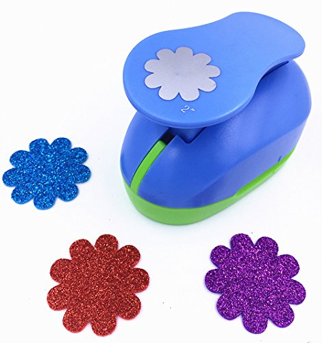 - TECH-P Creative Life 2-Inch Paper Craft Punch,card Scrapbooking Engraving Kid Cut DIY Handmade Hole Puncher.-(Flower-2)