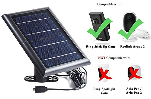 Outdoor Camera Solar Panel Home Security Charging Device