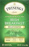 Twinings Classic Irish Breakfast Decaffeinated Tea, 20 Count