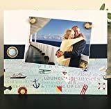 """Everything Cruise Ship Travel Ocean Sea Voyage Family Vacation gift handmade magnetic picture frame holds 5"""" x 7"""" photo 9"""" x 11"""" size"""