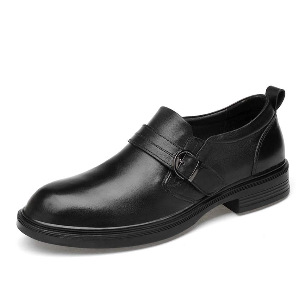 SHENNANJI Herren Business Oxford Freizeitschuhe Casual Classic rostfrei Metallschnalle Bequeme Abdeckung Füße Schuhe