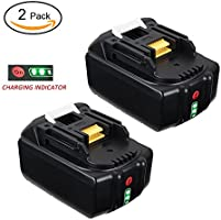 LYPULIGHT 2 x 18V 5.0Ah Li-ion Batterie de Remplacement pour Makita BL1850 BL1840 BL1830 BL1820 BL1815 BL1825 BL1835 BL1845 LXT-400 194205-3 194309-1