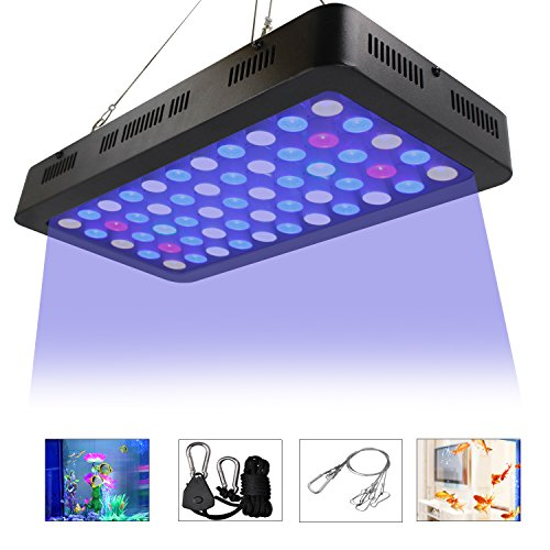 LED Aquarium Lights by ZXMEAN,165W Dimmable Full Spectrum Fish Tank Light for Coral Reef Water Plants and Fish LPS/SPS