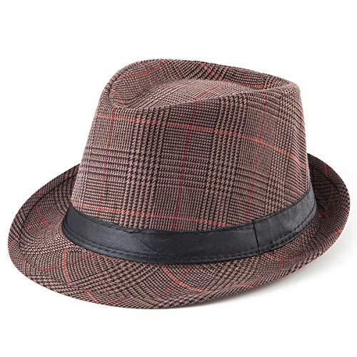 Mens Fedora Hats with Brims - Balck Sun Hat Unisex Summer Straw Fedora Hat Men -