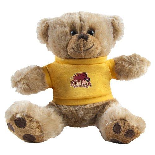 Loyola New Orleans Plush Big Paw 8 1/2 inch Brown Bear w/Gold Shirt 'Official Logo' by CollegeFanGear