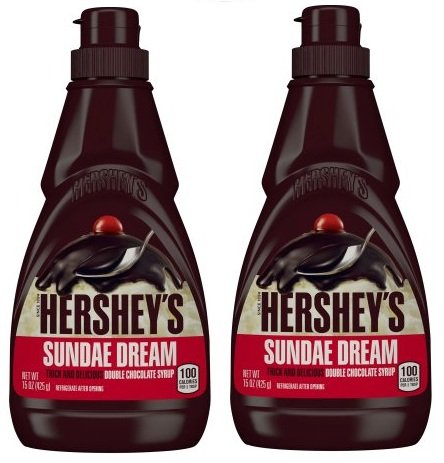 HERSHEY'S SUNDAE DREAM Double Chocolate Syrup, 15 Ounces (Pack of 2)