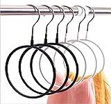 WWZY Immersion Plastic Non-slip Multifunction Load bearing Scarf rack Wardrobe Storage rack Silk scarf display stand Tie Circle Creative hanger , 40