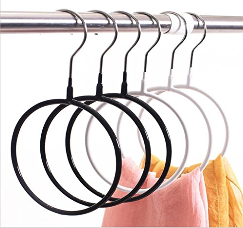 WWZY Immersion Plastic Non-slip Multifunction Load bearing Scarf rack Wardrobe Storage rack Silk scarf display stand Tie Circle Creative hanger , white , 40 by WWZY