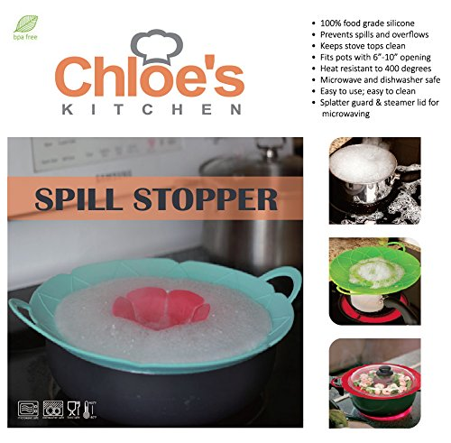 Zoie + Chloe Silicone Spill Stopper Pot Pan Lid & Splatter Guard