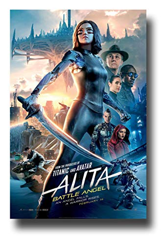 Alita Battle Angel Poster Movie Promo 11 x 17 inches Sword Stance - Angel Poster Movie