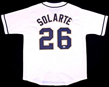 9073063b8 Image Unavailable. Image not available for. Color  Yangervis Solarte  Autographed Jersey ...