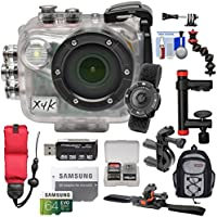 Intova X4K Marine Grade Wi-Fi 4K HD Action Camera Camcorder with Video Light & Remote + 64GB Card + Action Mounts + Backpack + Kit