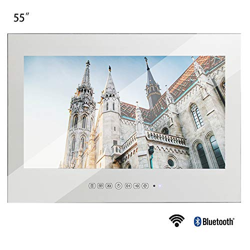 Soulaca 55 inches Bathroom Salon Smart Mirror Wi-Fi Waterproof Android 9.0 LED TV for Advertising with Big Screen