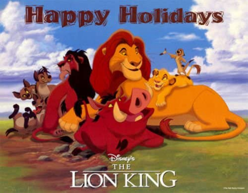 Disney S The Lion King Happy Holidays 17 X22 Original Promo Movie Poster Mint Rare 1994 Holiday Re Release At Amazon S Entertainment Collectibles Store