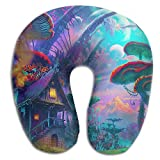 Gkf U Shaped Pillow Neck Country Scenery Travel Multifunctional Pillow Car Airplane