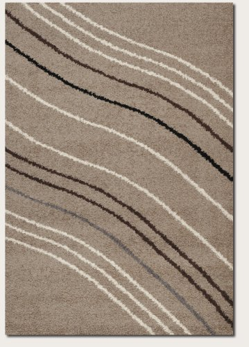 Couristan 5888/0004 Moonwalk Solar Wave Area Rugs, 9-Feet 2-Inch by 12-Feet 5-Inch, Sand by Couristan
