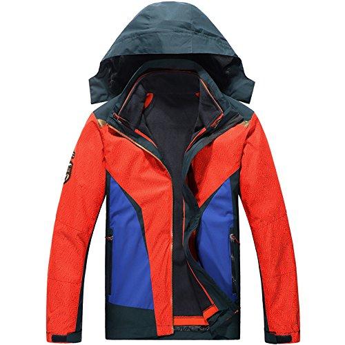 Lunghe Cappotto Caldo Zip Arancione Dell'urto Cappello Dyf Tasca Maniche Sci Di Fym Giacche Colore Piumino vOUzzF