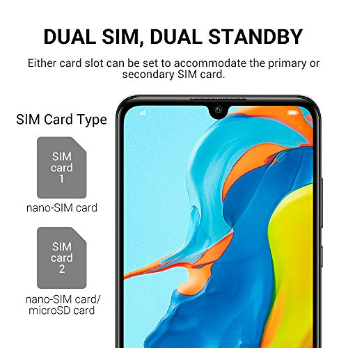 Huawei P30 Lite Smartphone(128GB, 4GB RAM) 6.15 inch Kirin 710 Octa Core,AI Triple Camera,32MP Selfie 4Cameras,Dual SIM US+Latin 4G LTE GSM Factory Unlocked-International Version(Magic Night)
