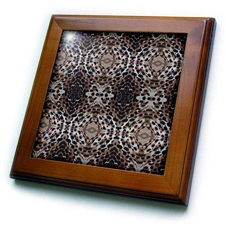 (3dRose ft_7520_1 Tiger Paws-Framed Tile, 8 by 8-Inch)