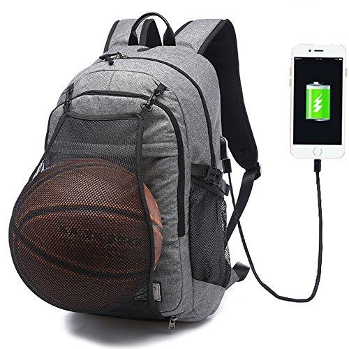 Travel Outdoor Computer Backpack Laptop bag 15.6''(grey) - 9