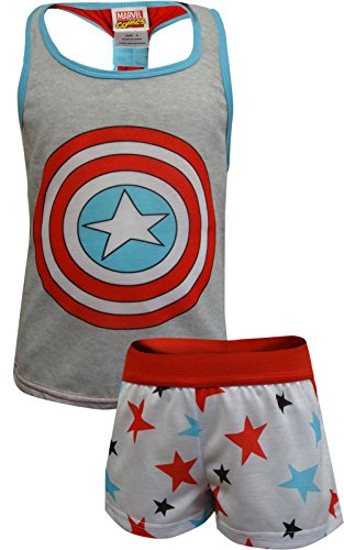 Marvel Comics Captain America Shortie Pajama For Big Girls - Mall Americas Outlet