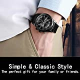 Daimon Mens Watches with Black Face Wrist Watches for Men