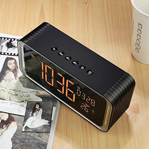 xingganglengyin Wireless Bluetooth Speaker Big Screen Clock Dual Speaker Subwoofer Card Speaker Radio by xingganglengyin (Image #1)