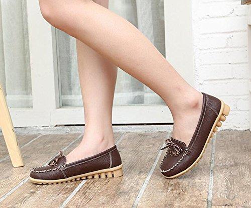 de Zapatos los del Guisante del del Mujeres o oto del Zapatos la Arco Guisantes Primavera Verano de Madre Zapatos Zapatos 2018 de Zapatos Ocasionales Las Grandes o de tama Cuero qYa7UIw