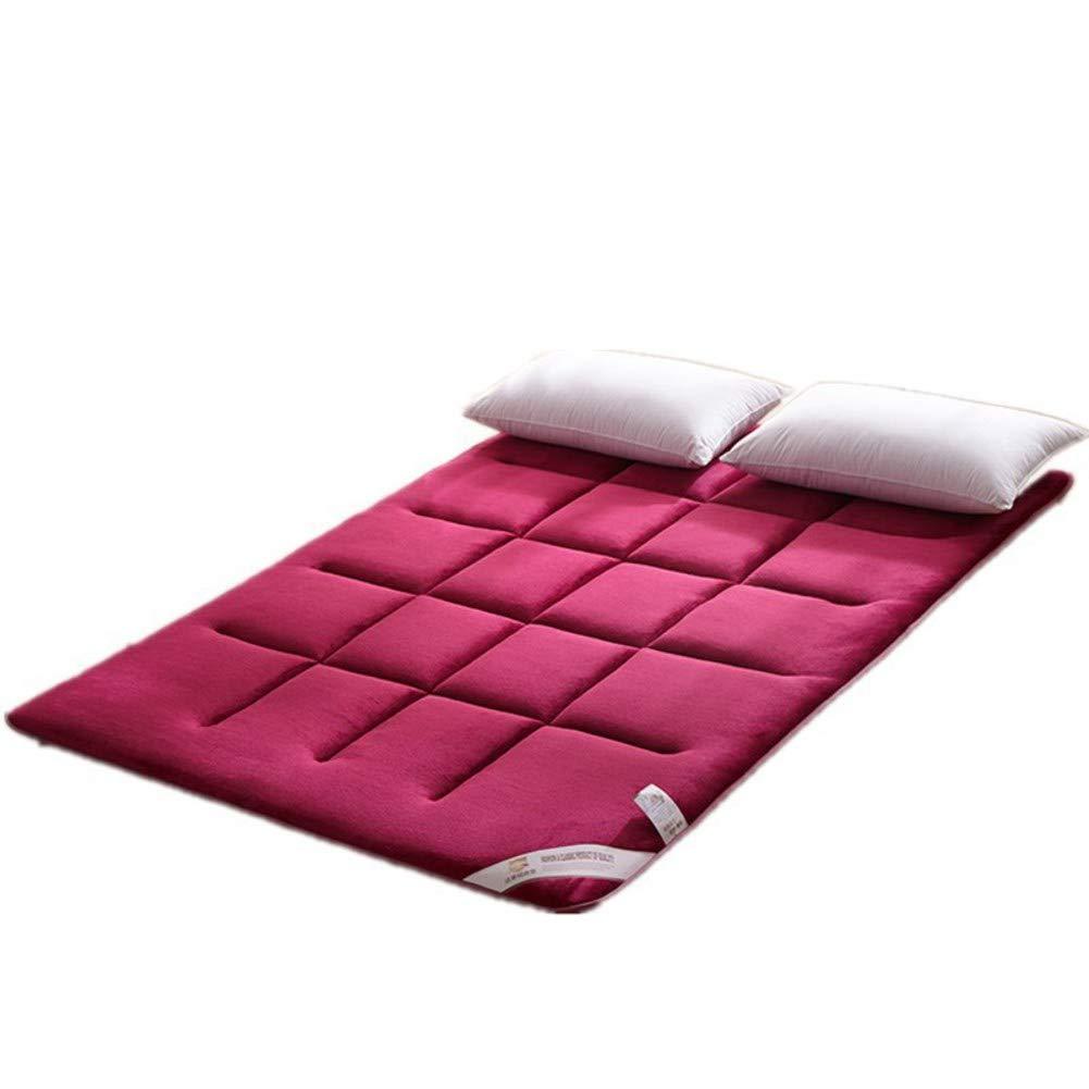 RYQS Espesar Franela Tatami Estera de meditación,Antideslizante Plegable Solo Doble Colchón para Inicio Dormitorio-A 180x200cm(71x79inch)