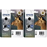Epson T1301 2x Tintenpatrone Original, schwarz