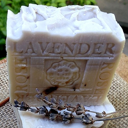 Lavender Handmade Soap with Crushed Rose Petals and Lavender Organic Shea Butter Soap – All Natural