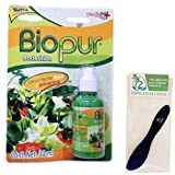 Biopur Fruit and Vegetable Wash 30ml (Pack of 2) and Especiales Cosas Spatula
