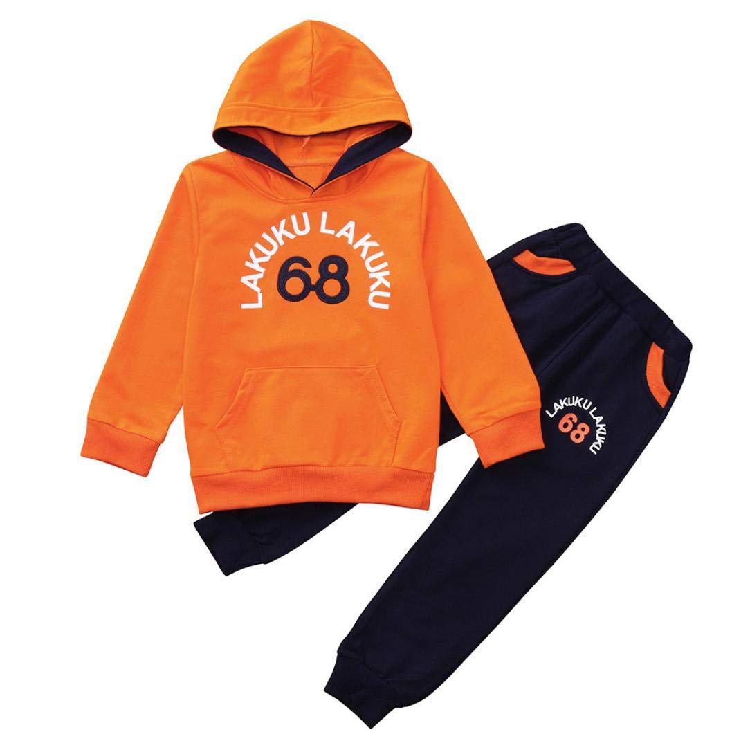 Leey Vestiti inverno Ragazzi 12 Mesi-4Anni Vestiti Bimbo 4 Anni Vestito Pantaloncino Bimba Bambino Bambini Cartoon T-Shirt Top + Pantaloni inverno Vestito Set Completini sportivi per bambino