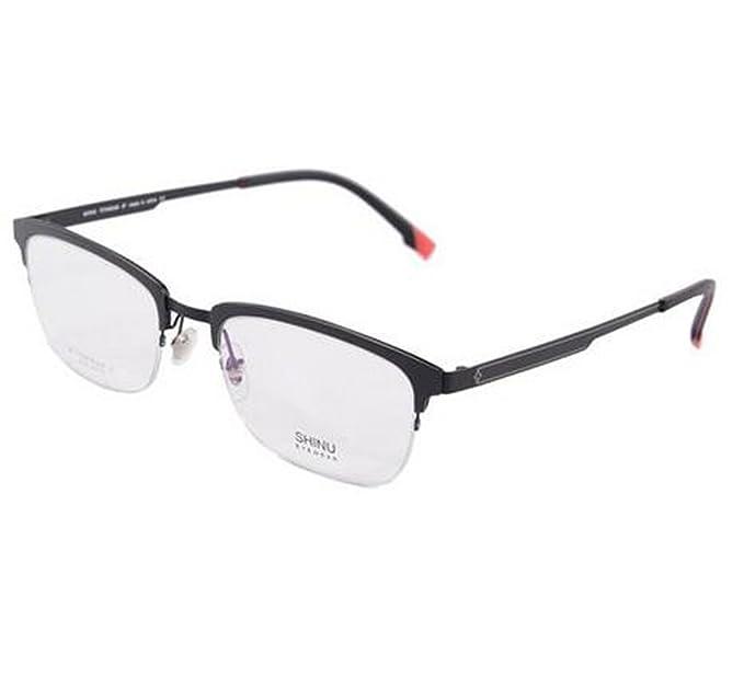 SHINU Titanium Semi-rimless Glasses Frames for Business Men Optical ...