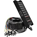Seismic Audio - SAXQ-24x8x75 - 24 Channel 75' XLR Snake Cable with 8 XLR and 1/4'' Returns on the Box
