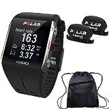 Polar - V800 GPS Sports Watch with Bluetooth Cadence Sensor Set and Bag - Black by Polar