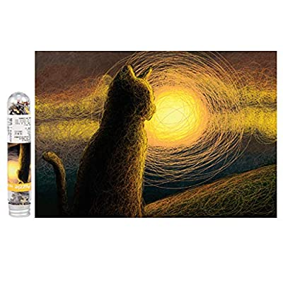 150 Piece Thicken Jigsaw Puzzle for Adults - 150 Pc Natural Landscape Pattern Mini Tube Jigsaw Puzzle Game - Interesting Intellective Educational Toys - Hand Made Puzzles Personalized Gift (A): Arts, Crafts & Sewing