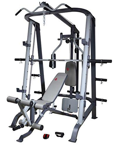 AsVIVA MS2 Power Multipresse II / Kraftstation - die Fitness-Station als Krafttrainer, Muskeltrainer, Bauchtrainer oder Hantelbank - das MultiGym, schwarz/grau