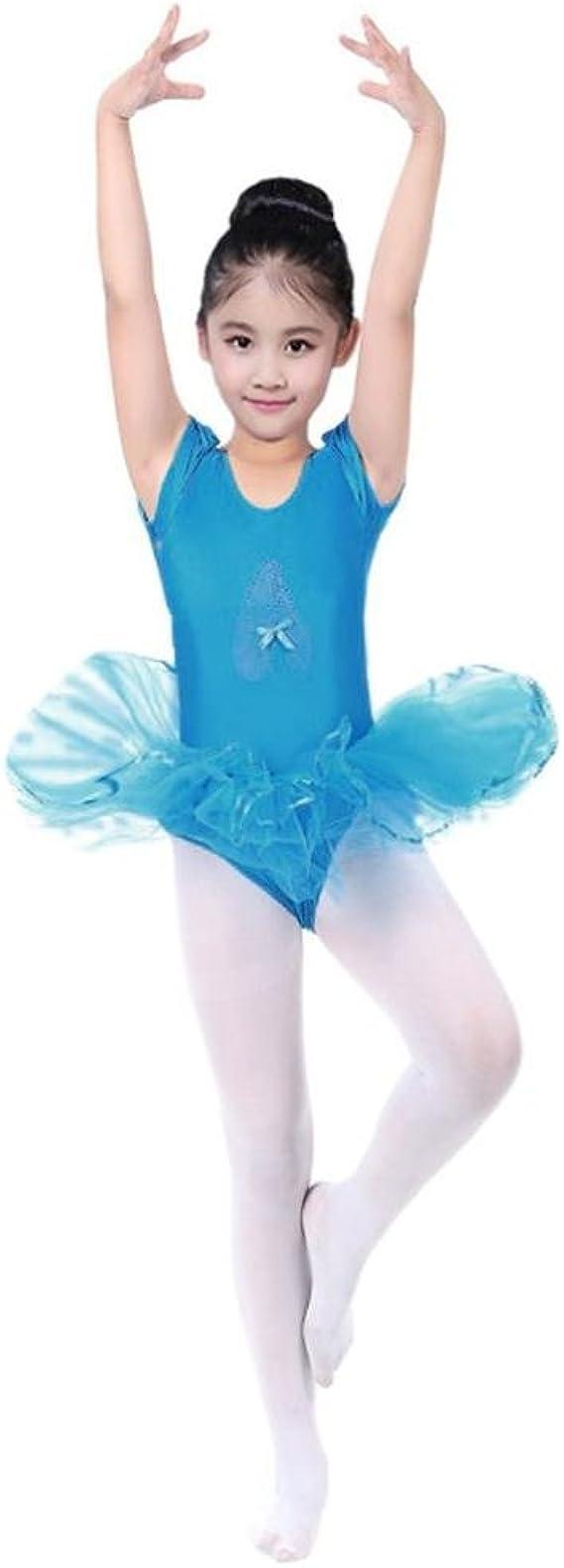 UK Kids Girls Ballet Dress Leotard+Tutu Skirt Gymnastic Dancewear Outfit Costume