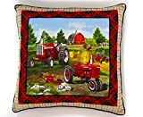 Farmall H and International Harvester 1206 Tractor Throw Pillow