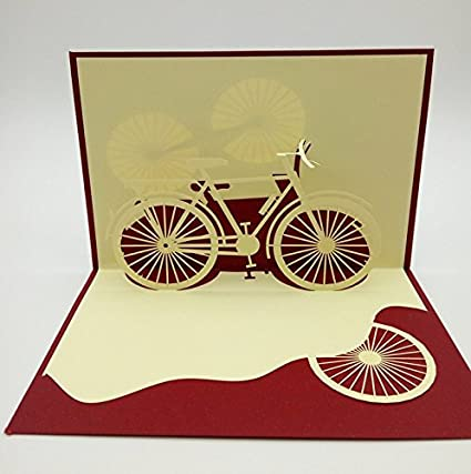 Papel spiritz bicicleta 3d Pop Up Tarjeta de felicitación, diseño ...