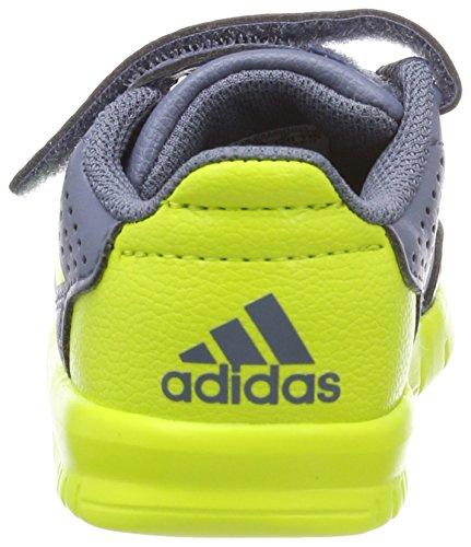 adidas Unisex Baby AltaSport Cloudfoam Gymnastikschuhe Grau (Raw Steel S18/semi Solar Yellow/grey)