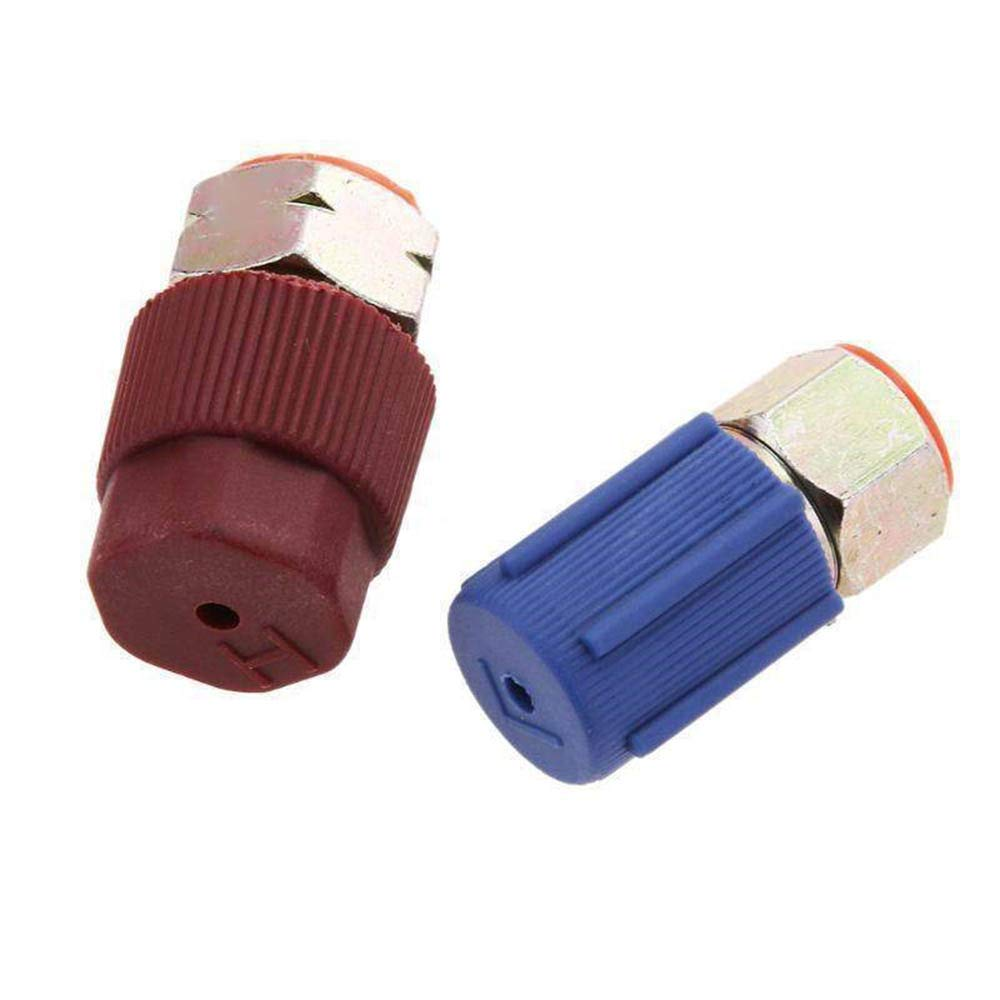 Tcplyn Premium Quality Retrofit 7//16 to 3//8 Conversion Adapter R12 to R134a High//Low AC Fitting