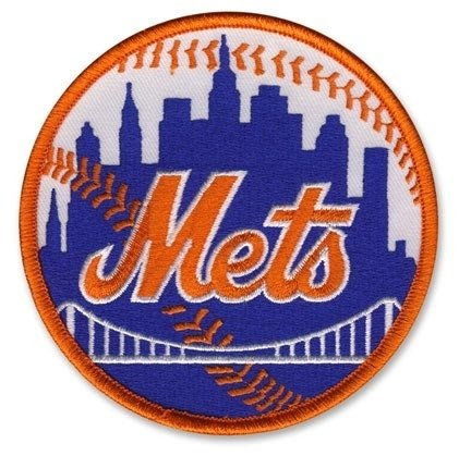 (MLB New York Mets Embroidered Team Logo Collectible Patch-)