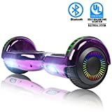 """SWEETBUY Hoverboards 6.5"""" Two-Wheel Self Balancing Electric Scooter with LED Light Flash Lights Wheels with UL 2272 Certified and Carry Bag(red)"""